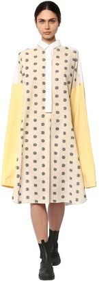 Loewe Oversize Embroidered Shirt Dress