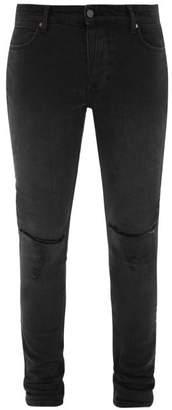 Ksubi Van Winkle Distressed Skinny-fit Jeans - Mens - Black