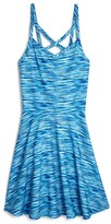 Aqua Girls' Spacedye Stripe Dress , Sizes S-XL - 100% Exclusive