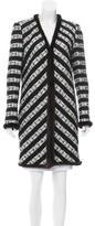 Chanel Mink Fur-Trimmed Striped Coat