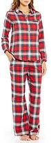 Sleep Sense Petite Plaid Flannel Pajamas