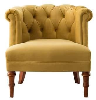 """Morphew 19.5"""" Barrel Chair Astoria Grand Fabric: Lavender Velvet"""