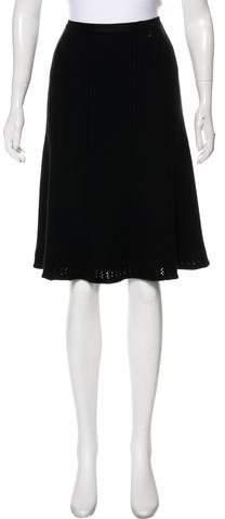 Chanel Silk & Cashmere Knit Skirt