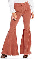 Free People Just Float On Cord Frayed Flare Leg Pant