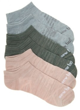 New Balance Ribbed Women's No Show Socks - 3 Pack
