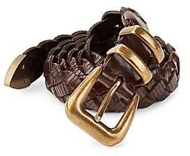 Brunello Cucinelli Men's Braided Leather Belt