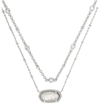 Kendra Scott Elisa Multi Strand Necklace (Gray Illusion) Necklace