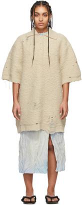 Acne Studios Beige Oversized Polo Dress