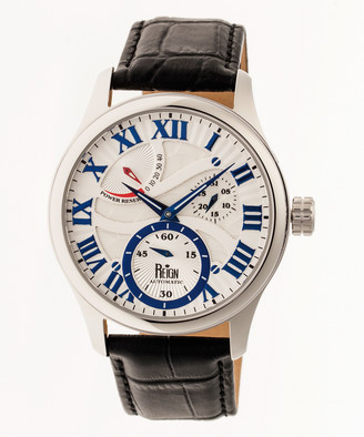 Reign Men's Watches Silver - Stainless Steel Bhutan Leather-Strap Watch