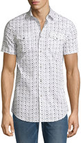 Diesel Mini Star-Print Short-Sleeve Shirt, White