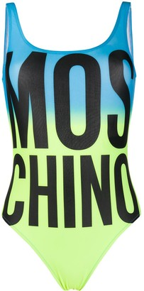 Moschino Logo Print Swimsuit