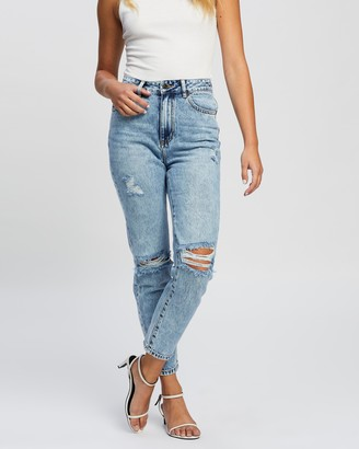 Atmos & Here Atmos&Here - Women's Blue High-Waisted - Derya Jeans - Size 18 at The Iconic