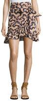 Isabel Marant Liliko Printed Wrap Skirt, Neutral