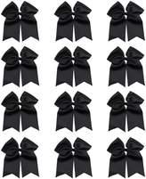 """QtGirl 7"""" Big Cheer Bows 12 Pcs Cheerleader Hair Bow with Clip"""