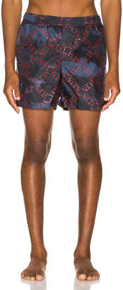 Valentino Swim Short in Blue & Red | FWRD