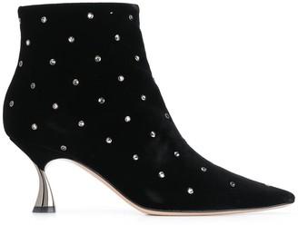 Casadei Crystal Embellished Boots