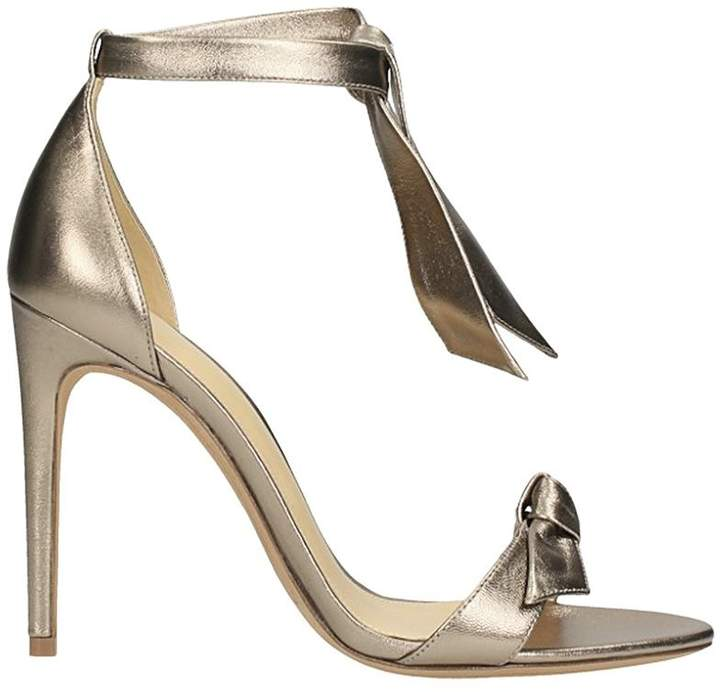 Alexandre Birman Gold Leather Sandals