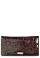 Brahmin Women's Dante Simone Croc Embossed Leather Wallet - Red