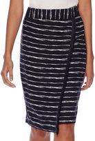 Liz Claiborne Fringe Wrap Midi Skirt - Tall