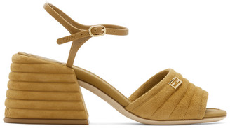 Fendi Brown Suede Slingback Heels