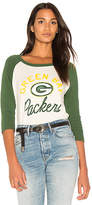 Junk Food Clothing Packers Raglan in Green. - size L (also in M,S,XS)