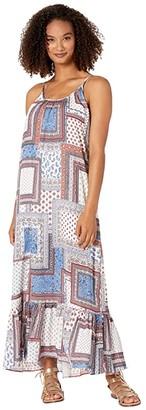 Karen Kane Ruffle Hem Dress (Print) Women's Dress