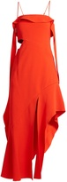 Jonathan Simkhai Ruffled bias-cut stretch-crepe dress