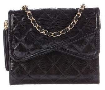 Chanel Quilted Lizard Flap Bag