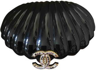 Chanel Pearl Bag Black Plastic Handbags
