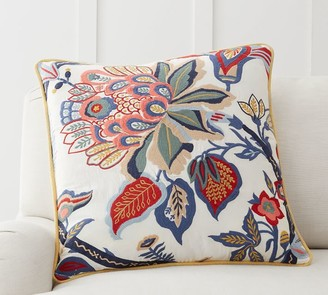 Pottery Barn Adelio Floral Embroidered Pillow Cover