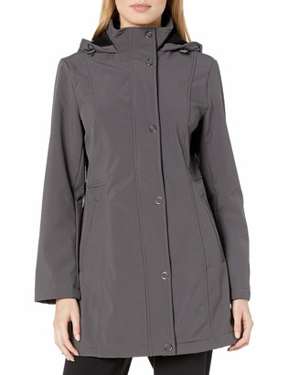 Anne Klein Women's Soft Shell Anorak with Hood