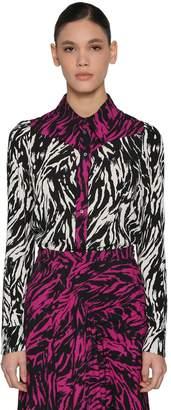 N°21 Animalier Printed Crepe Shirt