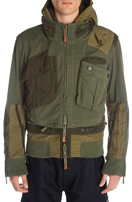 DSQUARED2 Hooded Military Bomber Jacket
