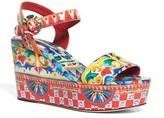 Dolce & Gabbana Carretto Platform Wedge Sandal (Women)
