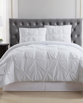 Truly Soft Pleated White Comforter Set