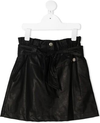 Alberta Ferretti Kids Leather-Effect Short Skirt