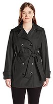 Calvin Klein Women's Plus-Size Double-Breasted Trench Coat