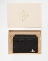 Vivienne Westwood Leather Card Holder - Black
