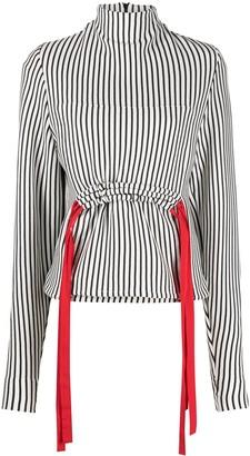 Atu Body Couture Striped Drawstring Top