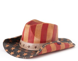 Peter Grimm Women's Justice Distressed American Flag Cowboy Hat