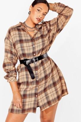 Nasty Gal Womens Check Up on 'Em Plus Mini Dress - Brown