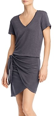 Monrow Faux-Wrap Dress