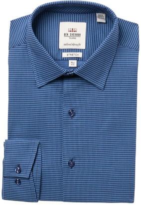 Ben Sherman Micro Print Tailored Skinny Fit Dress Shirt