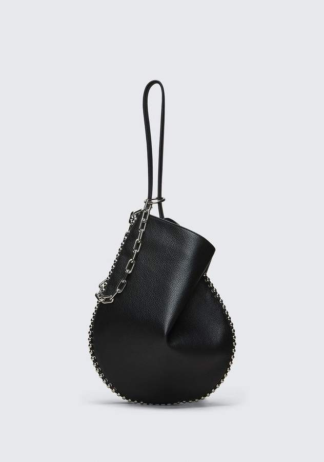 Alexander Wang ROXY HOBO IN PEBBLED BLACK WITH RHODIUM