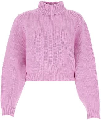 The Row Cropped Cut Sweater