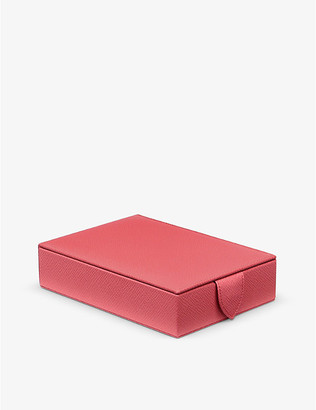 Smythson Panama leather travel tray jewellery box