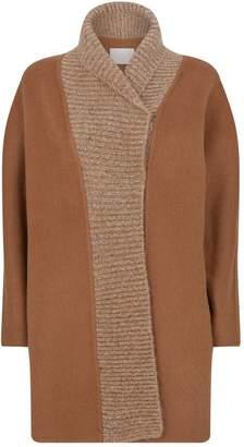 Fabiana Filippi Wool-Mohair Knitted-Trim Cardigan