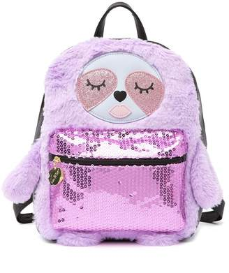 Betsey Johnson LUV BETSEY BY Maggie Faux Fur Kitsch Mid Sized Novelty Backpack
