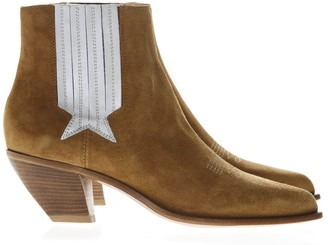 Golden Goose Sunset Copper Suede Ankle Boots