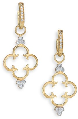 Jude Frances Classic Diamond & 18K Yellow Gold Clover Charm Earring Charms
